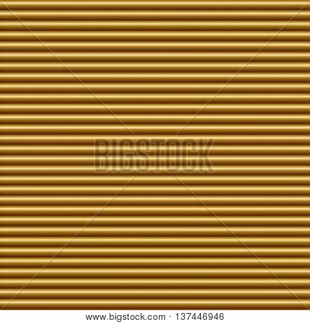 Horizontal gold tube background texture seamlessly tileable