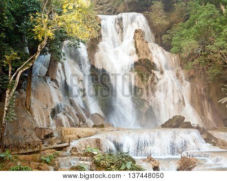 Kuang Si Waterfall near Luang Prabang Laos