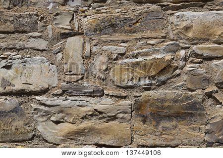 fragment of ancient stone masonry closeup - texture