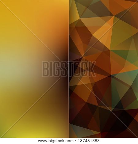 Abstract Geometric Style Brown Background. Brown Business Background Blur Background With Glass. Vec