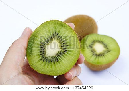 Kiwi fruit is delicious Packed with vitamins