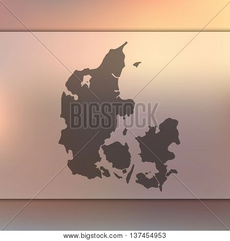 Blurred background with silhouette of Denmark.