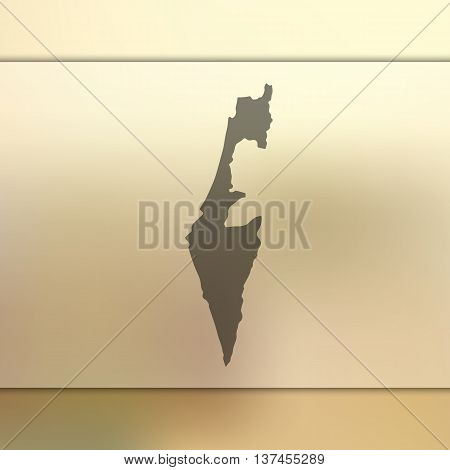 Blurred background with silhouette of Israel. Israel