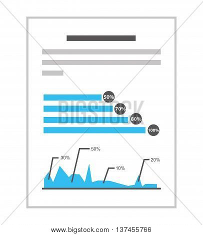 documents with statistics isolated icon design, vector illustration  graphic