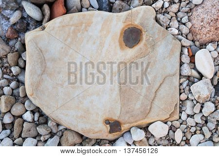 The Stones on the beach. Background. Abstract.