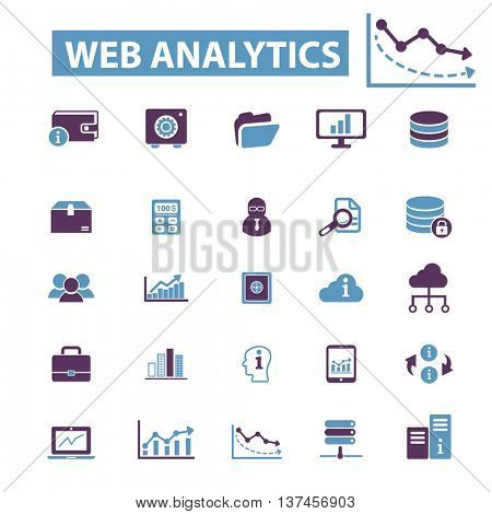 web analytics, chart, graph, business presentation, diagram, finance, stock analysis, optimization, growth, statistics, perfomance, marketing, crisis, progress, market icons, signs vector concept