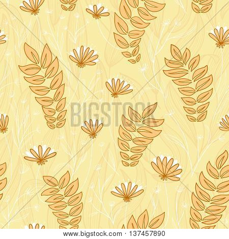 Vector floral abstract simplicity flower seamless background