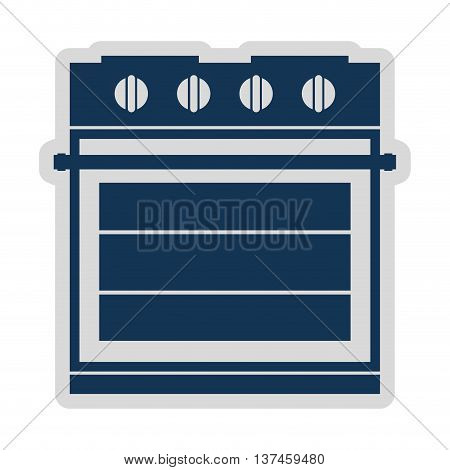 electric stove isolated icon design, vector illustration  graphic