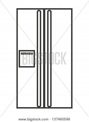 fridge isolated icon design, vector illustration graphic