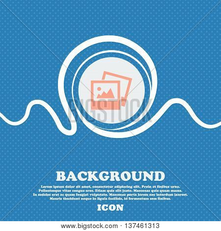 File Jpg Icon Sign. Blue And White Abstract Background Flecked With Space For Text And Your Design.