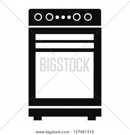simple flat design oven pictogram icon vector illustration