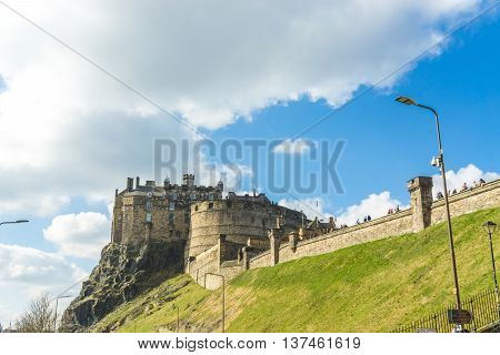 Cityscape Old Town Edinburgh And Castle
