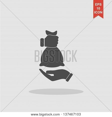 Hand And Bag Icon