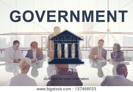 Government Administration Pillar Graphic Concept