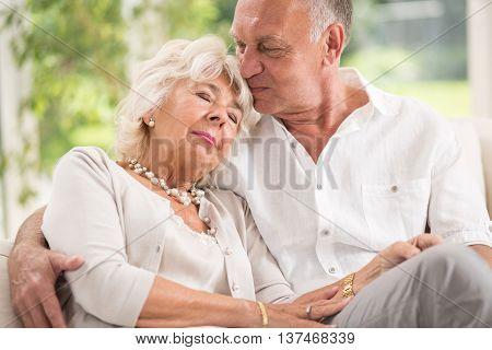 Elderly Marriage Hugging