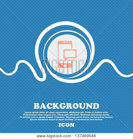 Mail Icon. Envelope Symbol. Message Sms Sign. Mails Navigation Button. Blue And White Abstract Backg