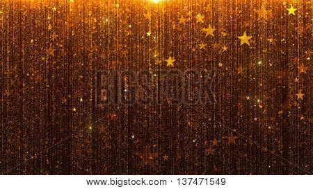 3d rendering particle wall particles flowing from the top special award shiny background