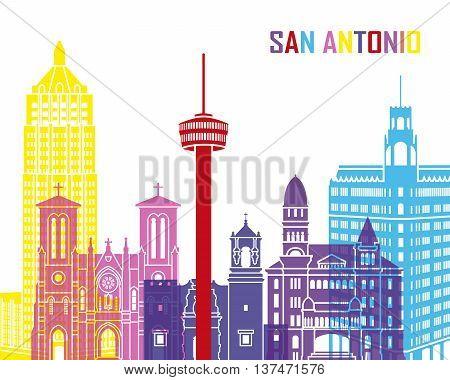 San Antonio Skyline Pop