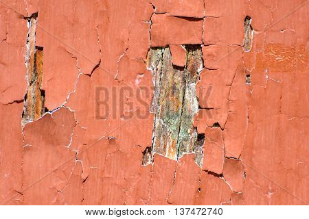 Close up from Old and  cracked paint