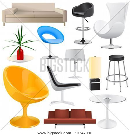 interior objects big set