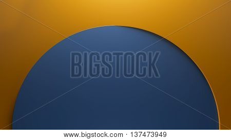 asbtract 3d rendering geometry background made of circle forms with shallow height difference