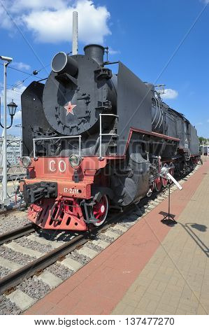 MOSCOW, RUSSIA - JUNE 23, 2016: Museum of Railway Transport locomotive Series CO (