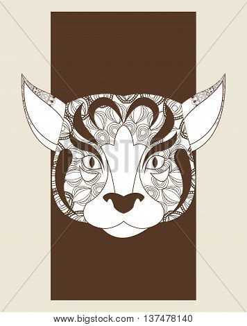 Animal and Ornamental predator concept represented by dog icon. Draw illustration. Pastel background