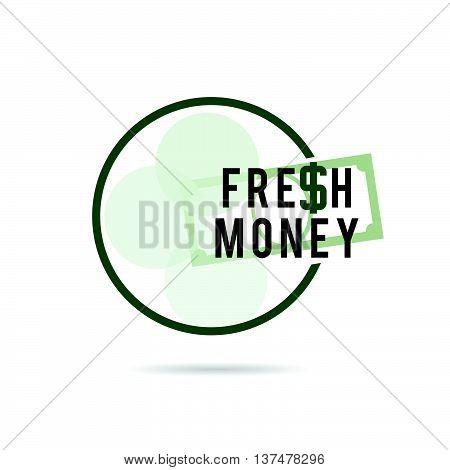Fresh Money Green Color Art Illustration