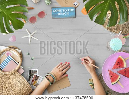 Copy Space Blank Summer Background Beach Concept