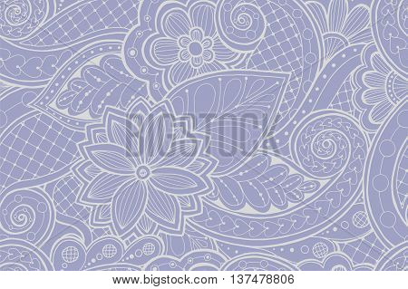 Seamless colorful summer pattern with stylized flowers. Ornate zentangle seamless texture, pattern with abstract flowers. Floral pattern can be used for wallpaper, pattern fills, web page background.