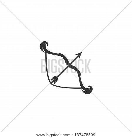 Bow icon isolated on white background. Bow vector logo. Flat design style. Modern vector pictogram for web graphics. - stock vector