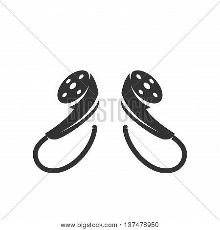 Headphones icon isolated on white background. Headphones vector logo. Flat design style. Modern vector pictogram for web graphics. - stock vector