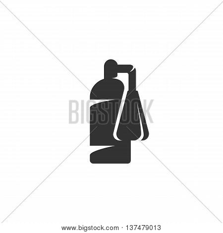 Fire extinguisher icon isolated on white background. Fire extinguisher vector logo. Flat design style. Modern vector pictogram for web graphics. - stock vector