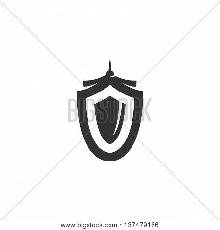 Shield icon isolated on white background. Shield vector logo. Flat design style. Modern vector pictogram for web graphics. - stock vector