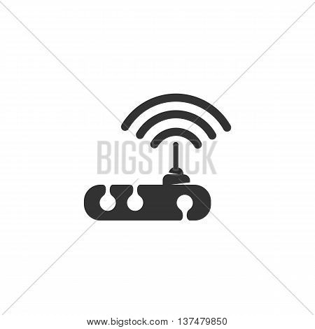 WiFi router icon isolated on white background. WiFi vector logo. Flat design style. Modern vector pictogram for web graphics - stock vector