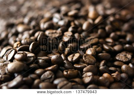Coffee beans can be used as a background
