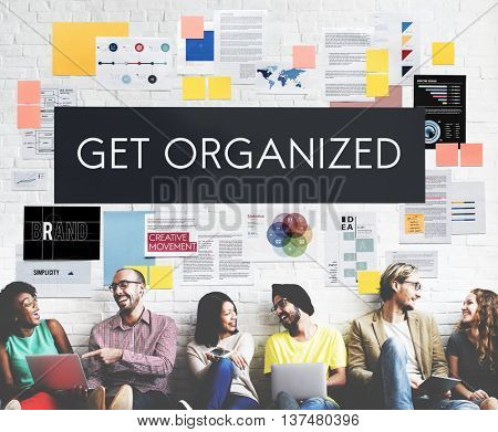 Get Organized Management Planning Concept