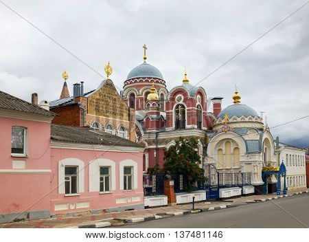 Church of St. Prince Michael of Tver and Alexander Nevsky (Velikoknyazheskaya church). The most luxurious and unusual of religious buildings in Yelets. The church was built almost for 1 year on the funds of merchant Zausaylov consecrated in 1911 is part o