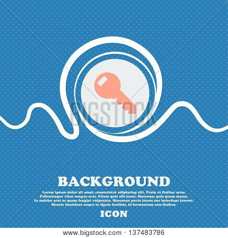 Key Sign Icon. Unlock Tool Symbol.. Blue And White Abstract Background Flecked With Space For Text A