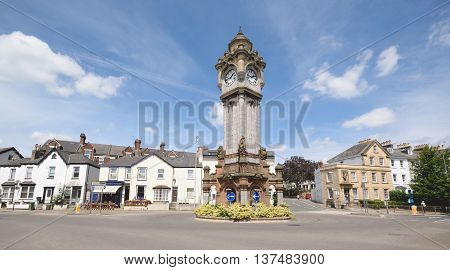 The Clock Tower in Exeter Devon erected by Mrs Louisa A Miles in 1897 as a fountain for horses