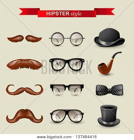12 highly detailed hipster style accessories