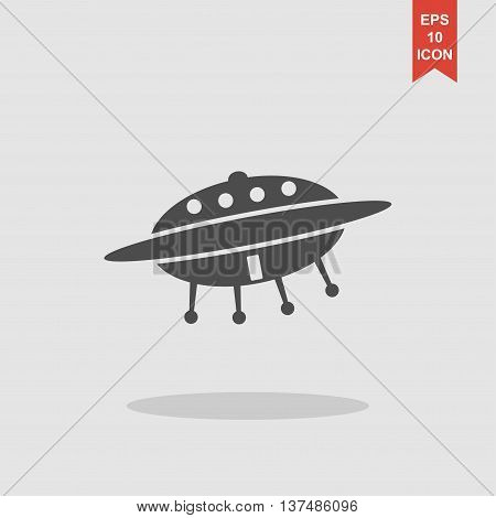 Ufo Icon. Flat