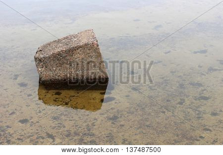 Large granite stones in the water
