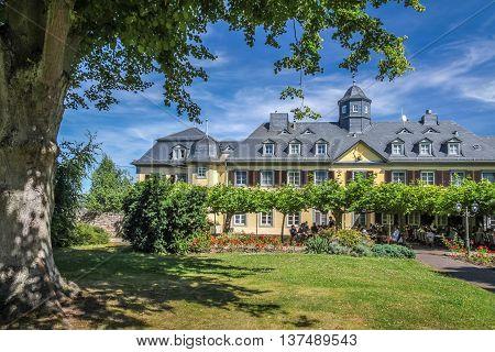 Niederwald hunting lodge near Ruedesheim in the Rheingau Hesse Germany