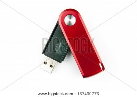 USB stick drive isolated on white background