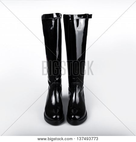 stylish Womens boot isolated on white background