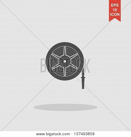 Fire Hose Reel Vector Illustration