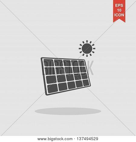 Solar Energy Panel. Modern Design Flat Style.