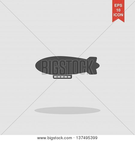 Airship Zeppelin Vector Icon