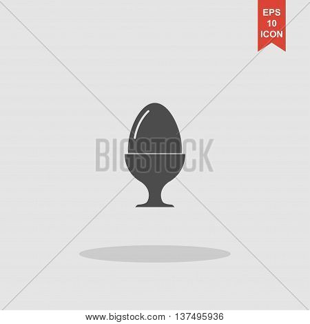 Flat A Boiled Egg Vector Icon.